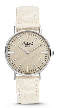 Colori Watch Denim White horloge