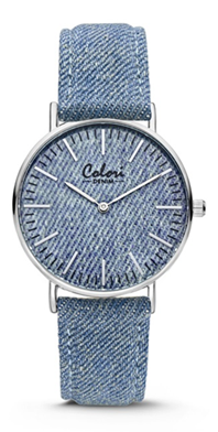 Colori Watch Denim Blue horloge
