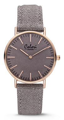 Colori Watch Denim Grey horloge