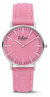 Colori Watch Denim Pink horloge
