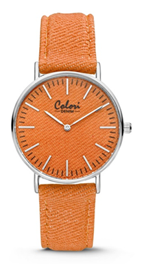 Colori Watch Denim Orange horloge