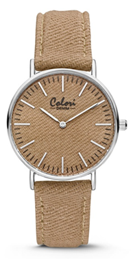 Colori Watch Denim Taupe horloge