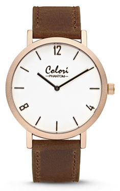 Colori Watch Phantom White Brown horloge