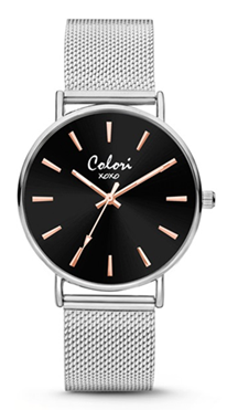 Colori Watch XOXO Black Silver horloge