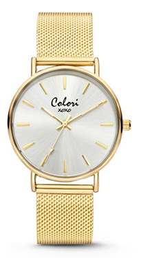 Colori Watch XOXO Silver Gold horloge