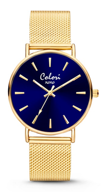 Colori Watch XOXO Blue Gold horloge