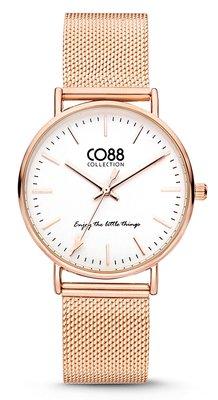 CO88 Steel Rosé horloge