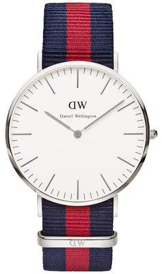 Daniel Wellington Classic Oxford Silver 40 mm horloge