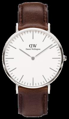 Daniel Wellington Classic Bristol Silver 40 mm horloge