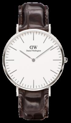 Daniel Wellington Classic York Silver 40 mm horloge