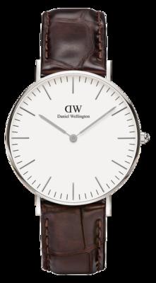 Daniel Wellington Classic York Silver 36 mm horloge