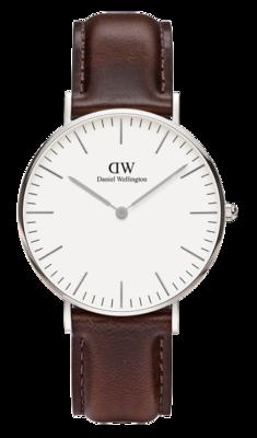 Daniel Wellington Classic Bristol Silver 36 mm horloge