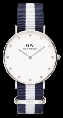 Daniel Wellington Classy Glasgow Silver 34 mm horloge