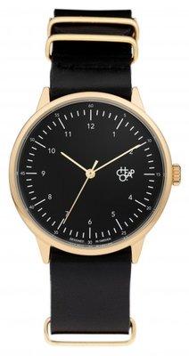 CHPO Harold Gold black horloge