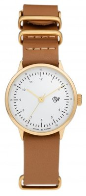 CHPO Harold Mini Gold brown horloge