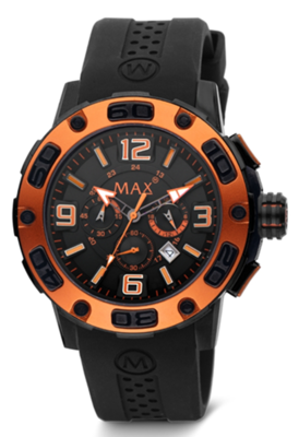 MAX Limitless Black/Orange horloge