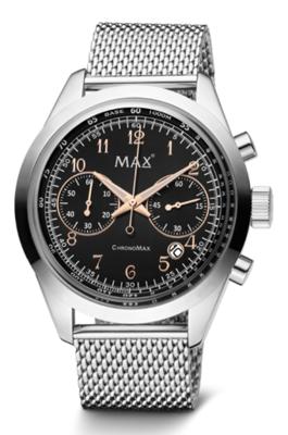 MAX ChronoMax Silver/Black horloge
