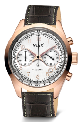 MAX ChronoMax Brown Leather horloge