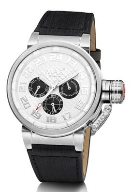 MAX Guardian Silver Black horloge