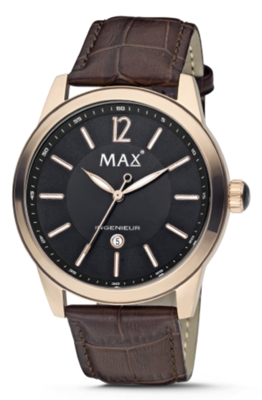 MAX Ingenieur Black/Brown horloge