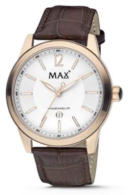 MAX Ingenieur Gold/Brown horloge