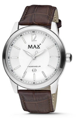 MAX Ingenieur Silver/Brown horloge