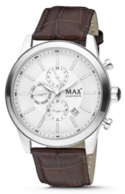 MAX Ingenieur Chrono Silver/Brown horloge
