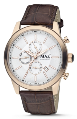 MAX Ingenieur Chrono Gold/Brown horloge