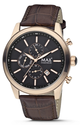 MAX Ingenieur Chrono Black/Brown horloge