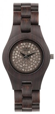 WeWOOD Moon Crystal Chocolate horloge