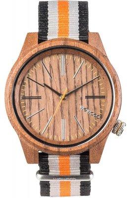 WeWOOD Torpedo Nut Orange horloge