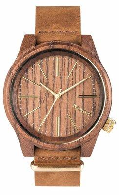 WeWOOD Torpedo Nut Leather horloge