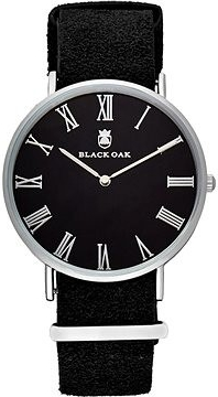 Black Oak Havard II black 40 mm horloge