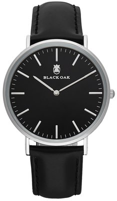 Black Oak Velutino black 40 mm horloge