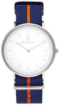 Black Oak Velutino blue orange 40 mm horloge