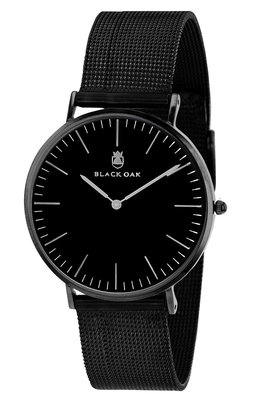 Black Oak Metal black 40 mm horloge