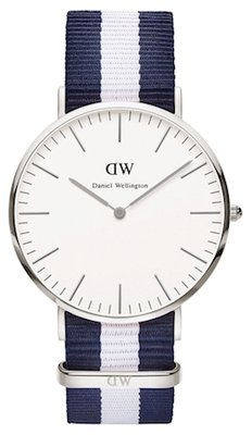 Daniel Wellington Classic Glasgow Silver 40 mm horloge