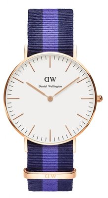 Daniel Wellington Classic Swansea Gold 36 mm horloge