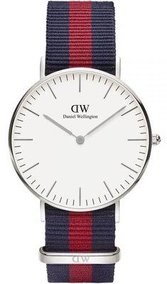 Daniel Wellington Classic Oxford Silver 36 mm horloge