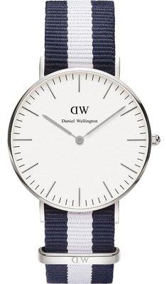 Daniel Wellington Classic Glasgow Silver 36 mm horloge
