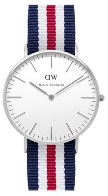 Daniel Wellington Classic Canterbury Silver 36 mm horloge