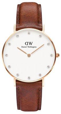 Daniel Wellington Classy St Mawes Gold 34 mm horloge