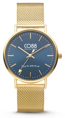 CO88 Steel Gold blue horloge