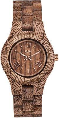 WeWOOD Criss Waves Nut Rough horloge