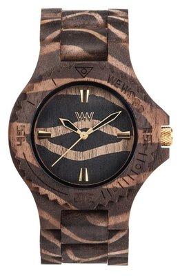 WeWOOD Date Nature Zebra Nut horloge