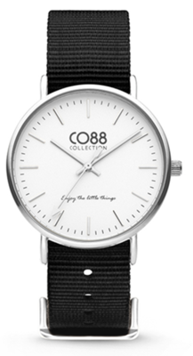 CO88 Nato Black white silver horloge