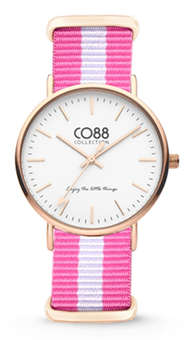 CO88 Nato Pink white gold horloge