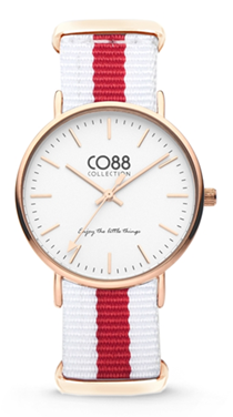 CO88 Nato White red gold horloge