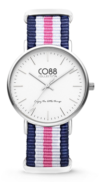 CO88 Nato Blue pink white silver horloge