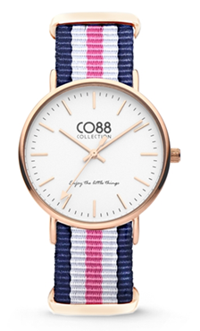 CO88 Nato Blue pink white gold horloge